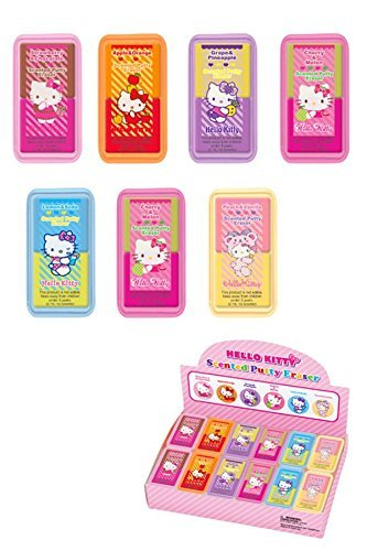 Hello Kitty Scented Putty Eraser Flavors Vary (Eraser Putty)