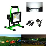 Hengda 20W Cool White LED Rechargeable Work Light Portable Floodlight IP65 Emergency Camping Outdoor F