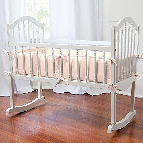 Carousel Designs Solid Peach Cradle Bumper