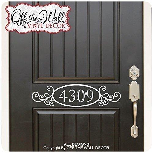 House Numbers Front Door Vinyl Decal Sticker D01
