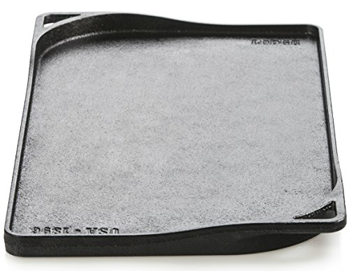 Lodge Dishwasher Safe Seasoned Cast Iron Double Griddle - 18 Inch Rust Resistant Cast Iron 2-Burner Griddle (Made in USA)