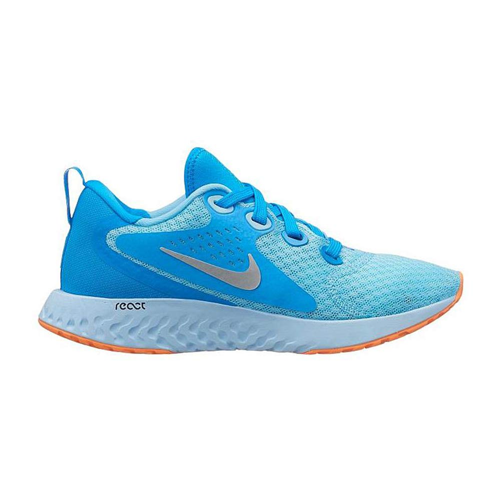 Nike Kids' Grade School Legend React Running Shoes (4, Blue Chill)