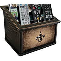 Fan Creations N0765-NOS New Orleans Saints Woodgrain Media Organizer, Multicolored