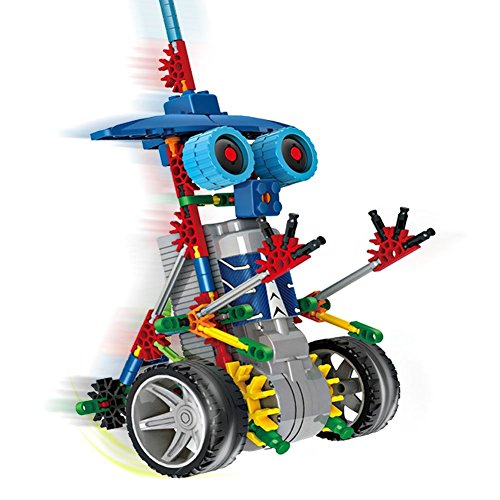 BOSS&KO Motorial Alien Robotic Building Set, Block Toy, Battery Motor Operated, 3D Puzzle Design Alien Primate Robot Figure for Kids and Adults, 120 Parts (Elf Knight)