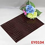 WWQY 6 Crocodile Texture Leather Without Washing Placemat / Wedding Party Decoration / Table Decoration / Weddings / Dinner , coffee