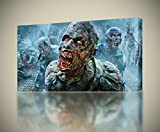 walking dead pictures - THE WALKING DEAD Zombies CANVAS PRINT Wall Art Decor Giclee4 Sizes CA126, Large