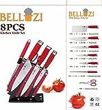 Bellozi Red Kitchen Knife Set