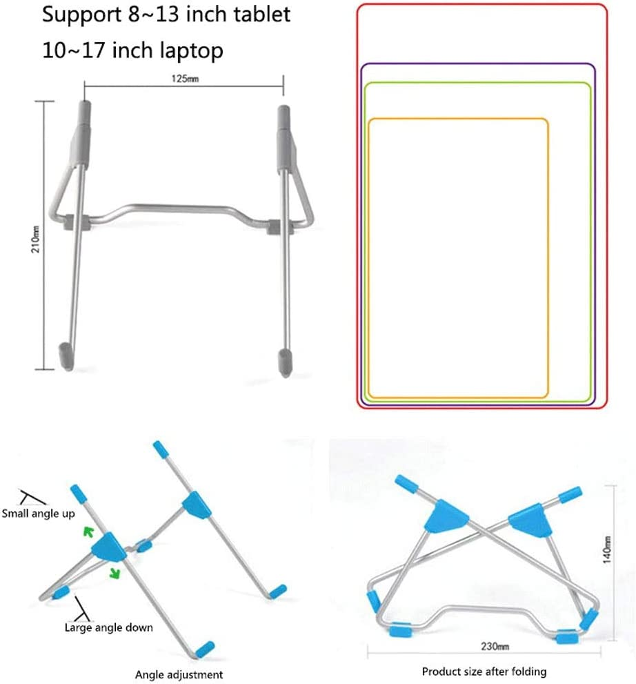 Carts /& Stands Office Desk Notebook Tablet Bracket,Aluminum Alloy Foldable Portable Radiator Laptop Storage Bracket Color : Silver