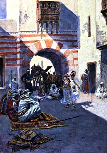 - Odsan Gallery Street Scene In Arabia - By Charles Marion Russell - Canvas Prints 20
