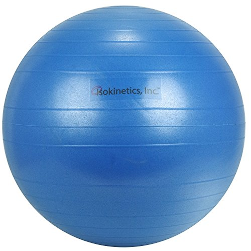 "Isokinetics Inc. Brand Exercise Ball - Anti-Burst - 75cm/30"" - Blue"