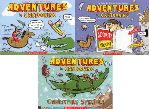Adventures in Cartooning Pack: Adventures in Cartooning, Adventures in Cartooning Activity Book, and Adventures in Cartooning: Christmas Special!.