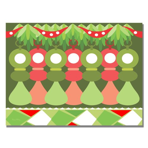 Trademark Fine Art Baby's First Christmas by Grace Riley Canvas Wall Art, 35x47-Inch