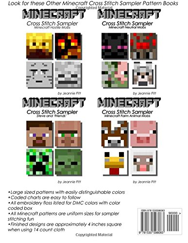 Exceptional Minecraft Cross Stitch Sampler: Steve And U0027Friendsu0027: Amazon.co.uk: Jeannie  Pitt: 9781530598083: Books