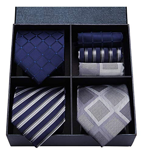 HISDERN Classic Necktie Pocket Square product image