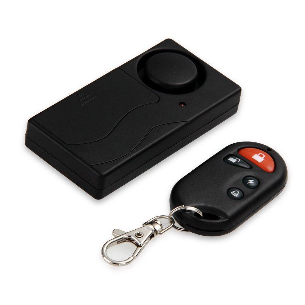 Alarma Timbre Antirrobo Inalámbrico Control Remoto Vibración Detector para Hogar