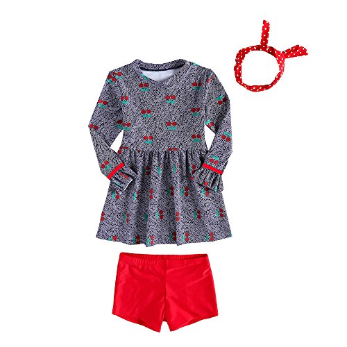 Price comparison product image Vivobiniya Kid Girl Tankini Sets One-Piece Dresses Swimming Trunks Head Band (11(H53.1IN))