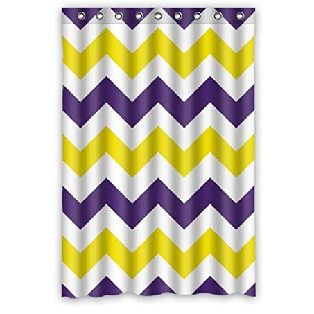 Purple And Yellow Shower Curtain. Amazon com  Personalized Bathroom Fashion Purple And Yellow Zigzag Chevron Pattern Shower Curtain 48 x72 New Waterproof Polyester Fabric Bath