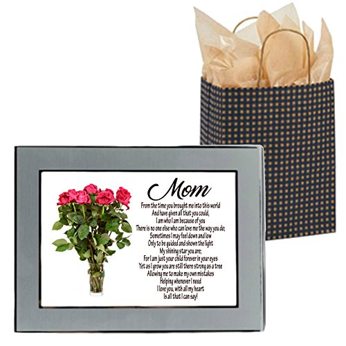 Amazon words matter gifts mothers day sentimental poem from amazon words matter gifts mothers day sentimental poem from son or daughter in 5x7 silver picture frame with gift bag tissue paper mightylinksfo
