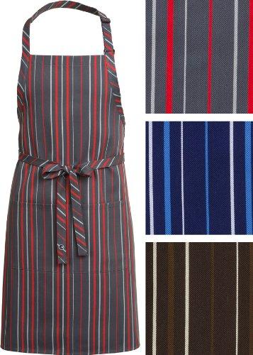 Chef Works Striped Bib Apron (A500)