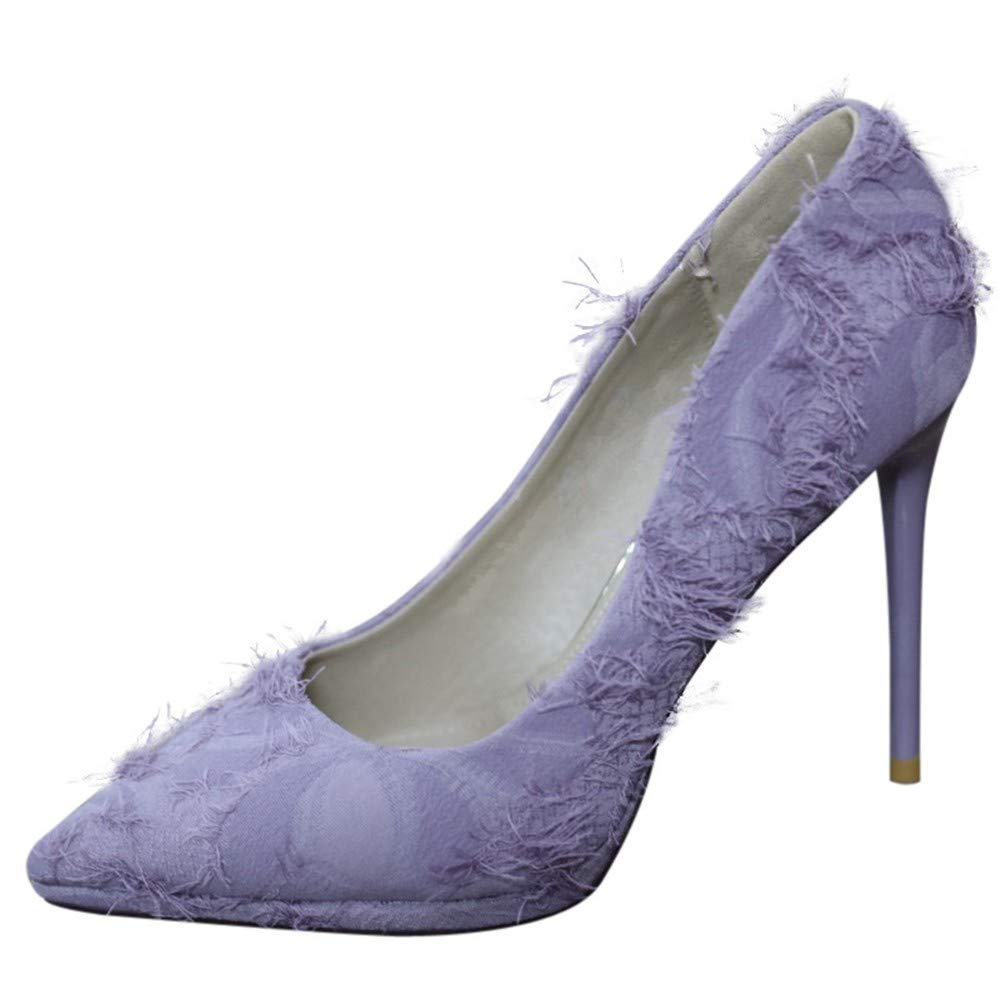 YMFIE Printemps et en Automne Chaussures à Talons Aiguilles Sexy Peu tempérament élégant Bouche Peu Sexy Profonde Talons Chaussures Simples 36 EU f832a3