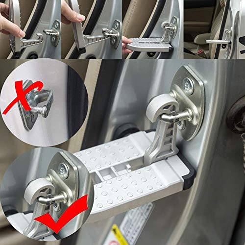 Soporte De La Puerta del Coche, Aleación De Aluminio Plegable Soporte De La Azotea del Pie De La Escalera del Vehículo - para La Mayoría De Los SUV RV ...