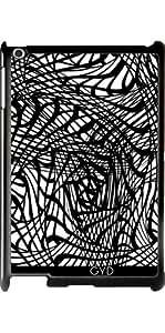 Funda para Apple Ipad 2/3/4 - Maraña Blanco Negro Del Doodle by Blingiton