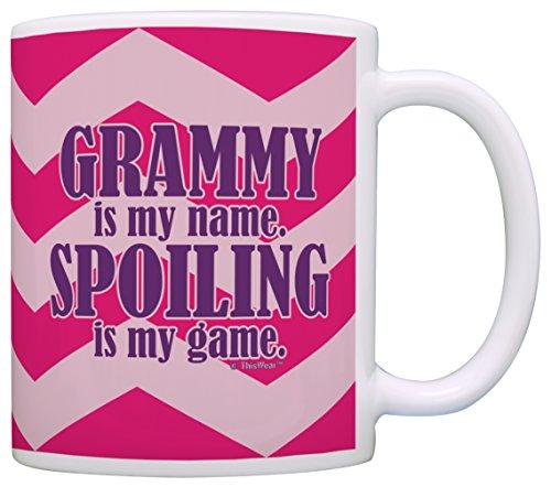 Grandma Grammy Spoiling Coffee Chevron