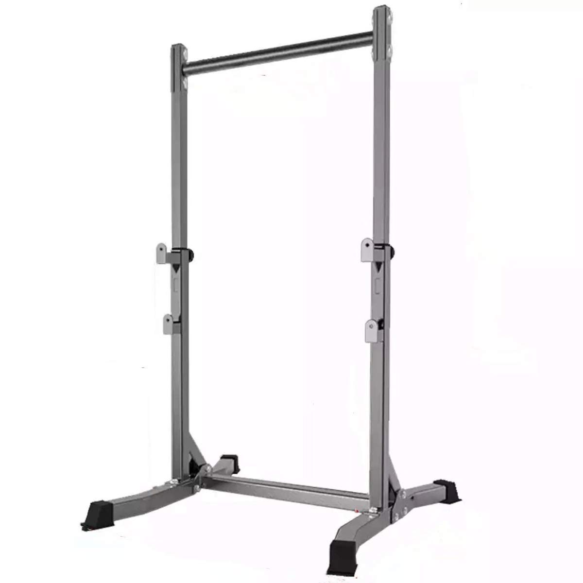 Indoor Horizontal Bar Commercial Multi-Function Pull-up Device Household Squat Bench Press Barbell Rack Fitness Training Equipment Commercial Single-bar Rack by Baianju