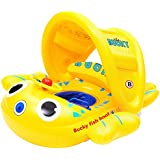 BUCKY SWIM - Baby Bubble Boat, Baby Swim Float, Children Inflatable Swimming Floatie Toys for Bathtub and Pool, Highest Quality Toxic-Free Materials, Roll-Over Protection Design
