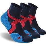 Low Cut Hiking Socks, ZEAL WOOD High Performance 3 Pairs Low Cut Athletic Running Cushion Sports Socks for Men & Women Summer Socks