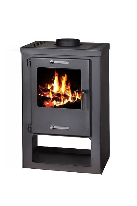 Estufa de leña Log quemador de combustible sólido chimenea madera y carbón 5 – 9 kW