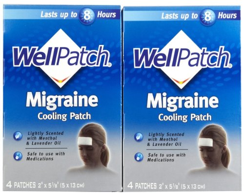 WellPatch Migraine Cooling Headache Pads, 2 pk, 4 each