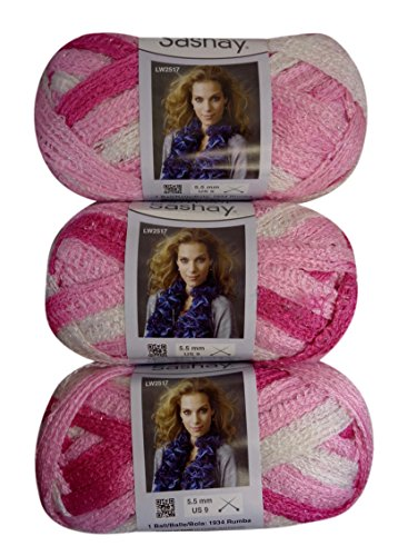 Bulk Buy: Red Heart Boutique Sashay Yarn (3-Pack) Tutu (Pink Heart Boutique)