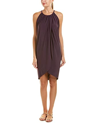 68e737bd68463 Magicsuit Women's Magic Solids Tank Dress Swim Cover Up Fig S at Amazon  Women's Clothing store: