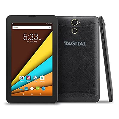 """Tagital® 7"""" Android 4.4 KitKat Bluetooth Phone Tablet GSM Dual Camera Unlocked Play Store Pre-installed"""