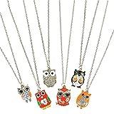 """16"""" Owl Necklace Assortment (6 Per Order)"""