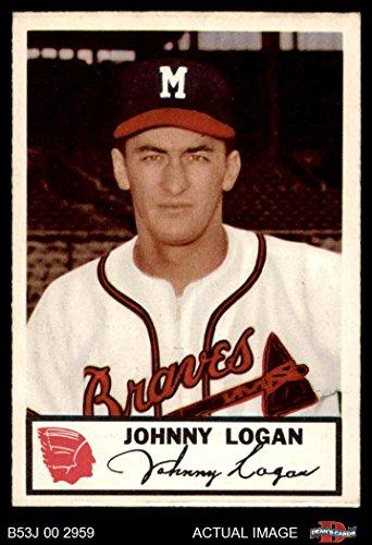 1953 Johnston Cookies # 20 Johnny Logan Boston / Milwaukee Braves (Baseball Card) Dean's Cards 4 - VG/EX - Shops Boston Logan