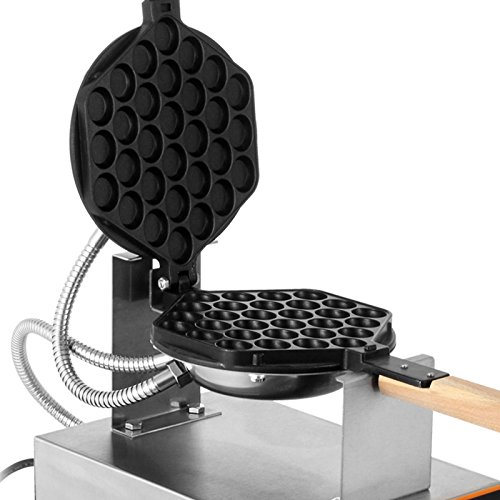 VEVOR Electric Egg Puffle Waffle Maker 1400W 110V Nonstick Eggettes Maker Making Machine HK Style Stainless Steel Electric Puff Egg QQ Muffin Cake Bread Belgian Bubble Waffle Maker (110V) by VEVOR (Image #6)