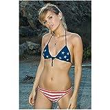 Deuce Bigalow: European Gigolo 8x10 Photo Hanna Verboom Wearing American Flag Bikini kn