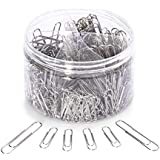 Paper Clips,450 Pieces Small and Jumbo Size(28mm,50mm) Silver Paperclips, for Office School Clips and Personal Document Organizing