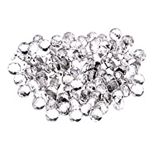 SODIAL(R) 50x 22mm diamante Acrylic crystal upholstery headboard buttons nail