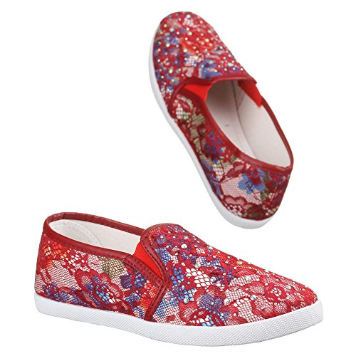 Ital-Design - zapatilla baja Mujer Varios Colores - Rot Multi