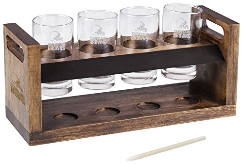 PICNIC TIME NFL Cleveland Browns Craft Beer Four Glass Tasting Set