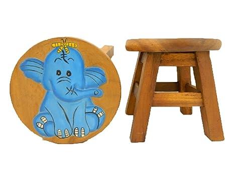 Sgabello In Legno Design : Thai gifts childs sgabello in legno per bambini sedia blu