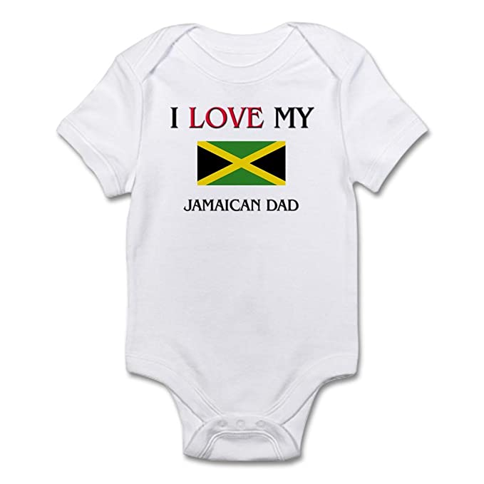 5f7b14d0 Amazon.com: CafePress I Love My Jamaican Dad Baby Bodysuit: Clothing