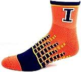 NCAA Illinois Fighting Illini Adult M1500R Digi Squares Quarter Socks Orange and Blue