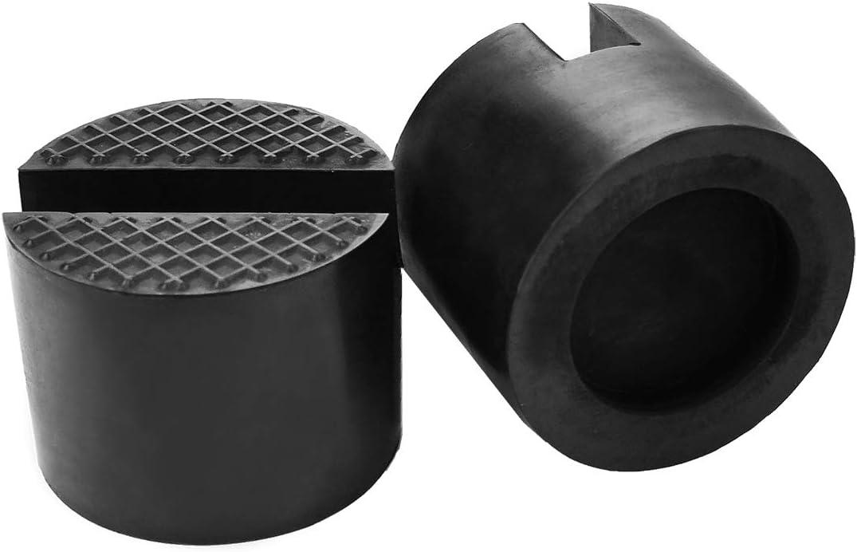 TONGXU Lot de 2 Bloc de Caoutchouc pour Cric Tampon Cric Hydraulique Jack Pad Universel Adaptateur de Coussinet 2-3 Tonnes Protection de Voiture
