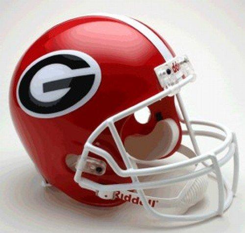 Riddell NCAA Georgia Deluxe Replica Helmet - Red (Bulldogs Deluxe Replica Helmet)