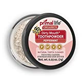 Natural Tooth Powder Dirty Mouth Organic Toothpowder (1month) -#1 BEST All Natural Dental Cleanser -Gently Polishes, Whitens, Re-Mineralizes, Strengthens Teeth -Better Than toothpaste (Peppermint)