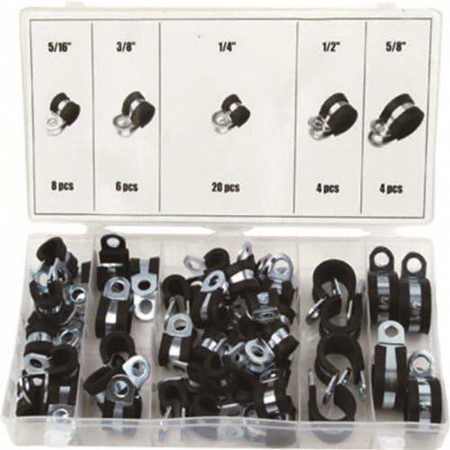 /Ø 25mm Band 20mm 2 St/ück Rohrschellen mit Gummieinlage Auswahl